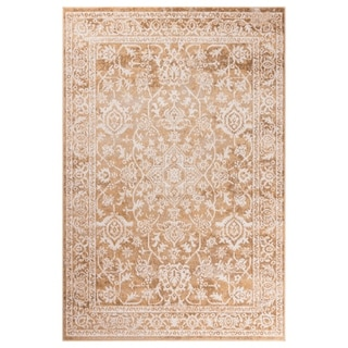 "GAD Eden Beige Transitional Design Area Rug with Modern Stylish  Look. - 5'3"" X 7'6"""