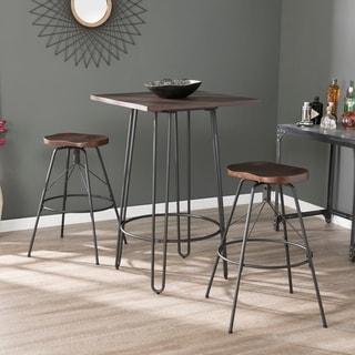 Link to Carbon Loft Rauston Industrial Black Metal Barstools (Set of 2) Similar Items in Dining Room & Bar Furniture