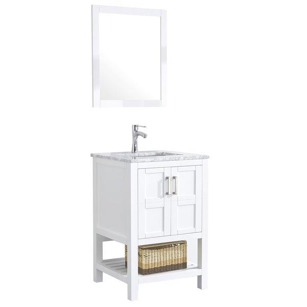 "Sophia 24"" Single Sink Bathroom Vanity Set, White"