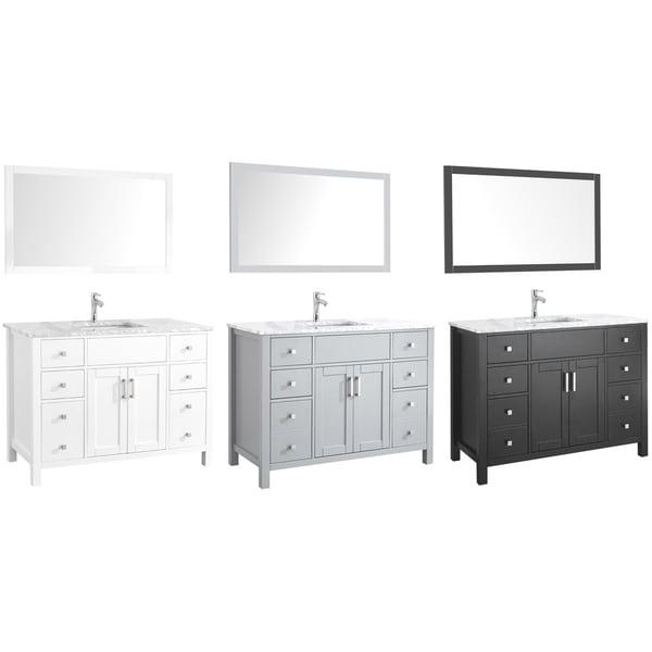 Amaya Marble Countertop 48-inch Single-sink Bathroom Vanity Set