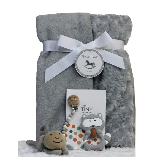 Baby Blanket, Paci-clip, Teeter and Toy Gift Set. Opens flyout.