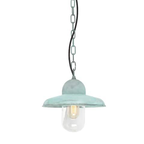 Verdigris Chain Lantern Outdoor Fixture By Lucas McKearn - Small