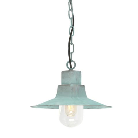 Sheldon Verdi Chain Lantern Outdoor Fixture By Lucas McKearn - Small