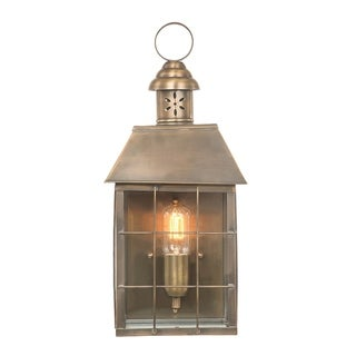 Link to Hyde Park Brass Outdoor Wall Lantern in Bronze By Lucas McKearn Similar Items in Sconces