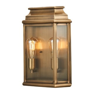 Link to Brass Outdoor Porch Wall Lantern Large in Bronze By Lucas McKearn Similar Items in Sconces