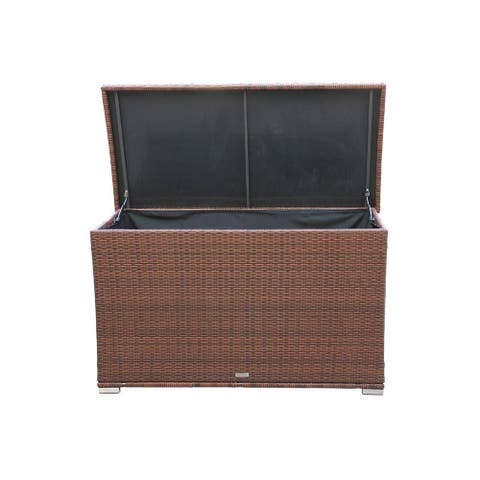 Inuvik Outdoor Rattan Garden Cushion Storage Box Container by Havenside Home