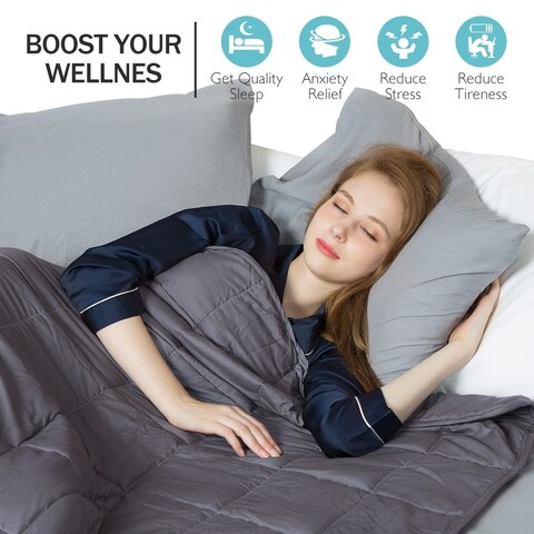 Premium Cotton Weighted Blanket for Adult and Kids