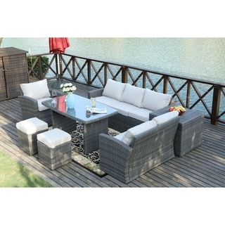7-piece Patio Furniture Set with Side Storage Box by Direct Wicker