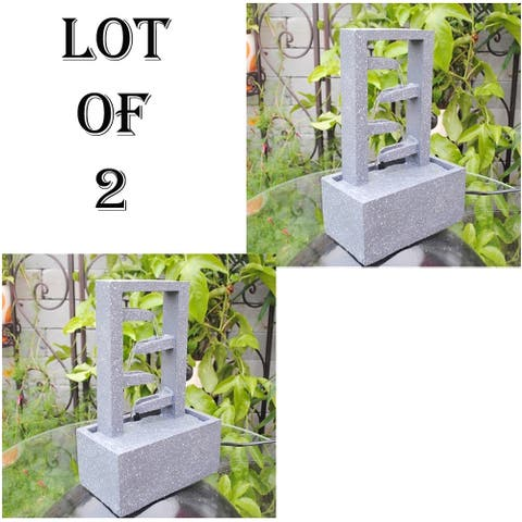 Lot Of (2) Water Fountain-Relaxing Tabletop Water Decoration
