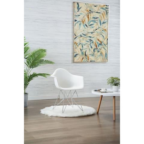 Porthos Home Dai Modern Dining Chairs, Deep Polypropylene (PP) Seat & Chrome Legs