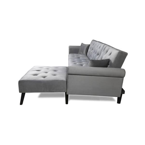 Remarkable Shop Silver Orchid Abbott Modern Vintage Futon Sofa Bed Set Creativecarmelina Interior Chair Design Creativecarmelinacom
