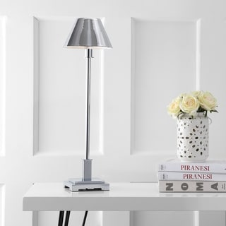 """Link to Roxy 26"""" Metal Shade LED Table Lamp in Silver by JONATHAN  Y (As Is Item) Similar Items in As Is"""