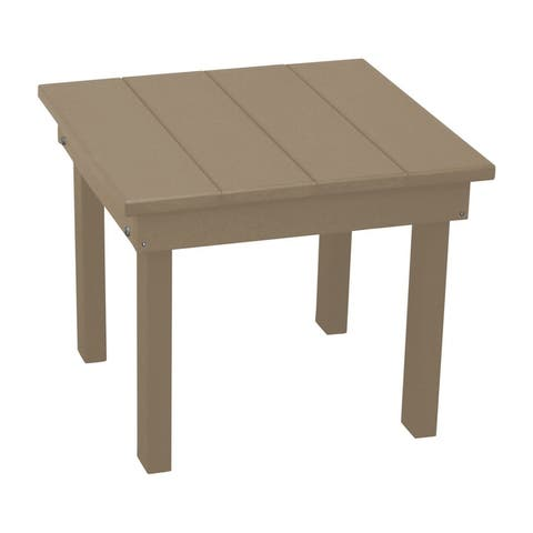 Outdoor End Table in Hampton Style - Recycled Plastic