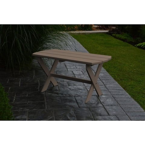 Outdoor Folding Oval Coffee Table - Recycled Plastic