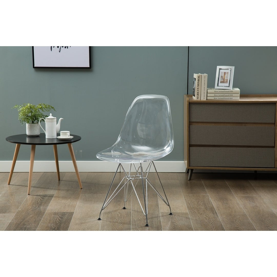 Super Porthos Home Bryna Modern Dining Chairs Polycarbonate Pc Seat Gmtry Best Dining Table And Chair Ideas Images Gmtryco