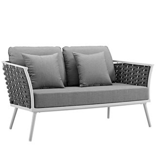 Link to Stance Outdoor Patio Aluminum Loveseat Similar Items in Patio Dining Chairs