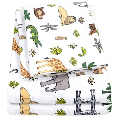 Wild Kingdom Sheet Set by Sweet Home Collection - Multi