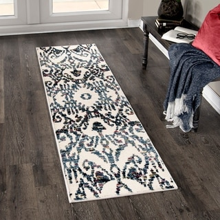 Orian West Village Bagdra White Area Rug - 2'3 x 8'