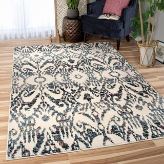 Orian West Village Bagdra Off-white Area Rug - 5'3 x 7'6