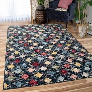 Orian West Village Color Patch Multi Area Rug - 5'3 x 7'6