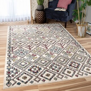 Orian West Village Tangier Soft White Texture Area Rug - 5'3 x 7'6