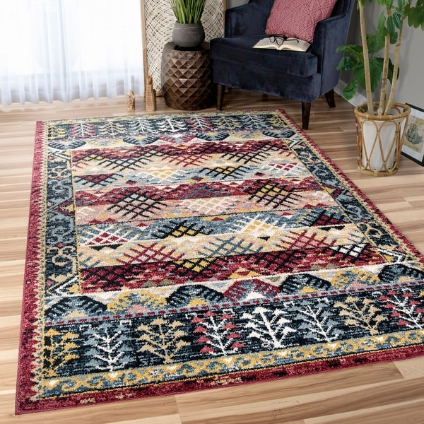 Orian West Village Sevas Multi-color Area Rug - 5'3 x 7'6