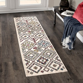 Orian West Village Tangier White Soft Texture Area Rug - 2'3 x 8'
