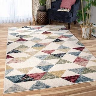 Orian West Village Bermuda Soft White Texture Area Rug - 5'3 x 7'6