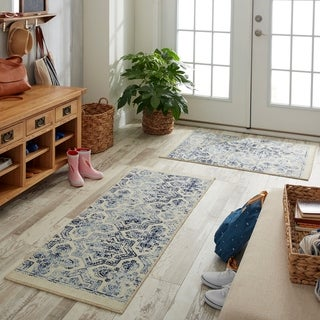 "Link to Mohawk Woodbridge Skylee Rug Set (Set Includes: 2'x5' Runner and 2'6""x3'10"" Scatter) - 2' x 5' Similar Items in Rugs"