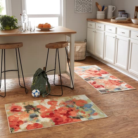 "Mohawk Soho Colorful Garden Rug Set (Set Includes: 2'x5' Runner and 2'6""x3'10"" Scatter) - 2' x 5'"