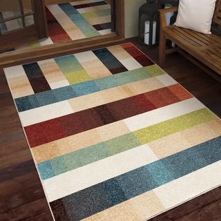 Orian Veranda Portman Blocks Multi-color Area Rug - 5'2 x 7'6