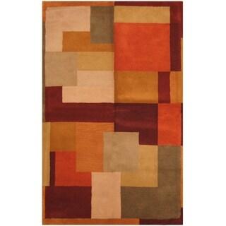 Handmade One-of-a-Kind Tibetan Wool Rug (India) - 5' x 8'