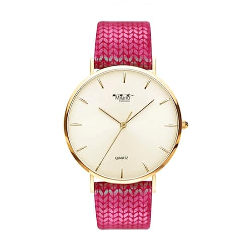 M Milano Expression Pattern Silicon Band Watch Style 4727 - N/A