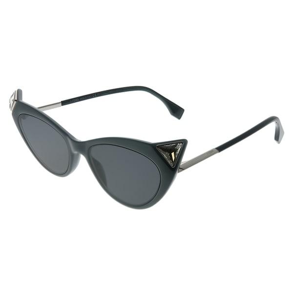 71e31e72f2d Shop Fendi Irida FF 0356 807 IR Womens Black Frame Grey Lens Sunglasses -  Free Shipping Today - Overstock - 27879790