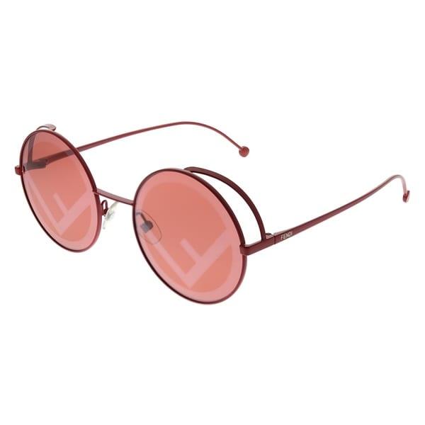 a07d434977ea Fendi Women's Fendirama Red Frame Red Fendi Logo Lens Sunglasses
