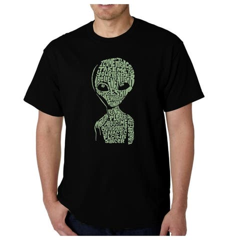Men's Word Art T-shirt - Alien