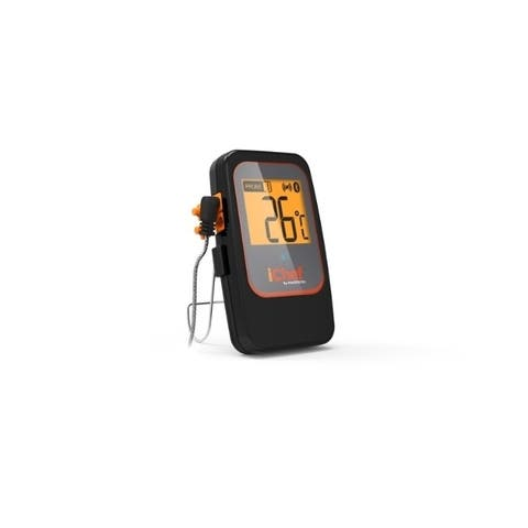 iChef Maverick Stainless Steel Wireless Smart Meat Thermometer 4 in. H x 4 in. W x 2.3 in. L