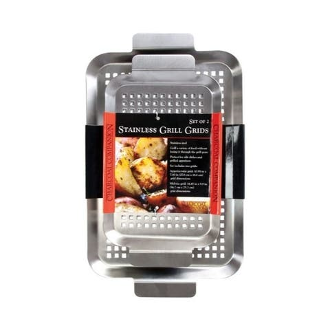 Charcoal Companion 2-piece Stainless Steel Grill Grid