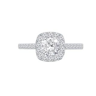 Auriya 1 1 2ctw Cushion Cut Halo Diamond Engagement Ring 14k Gold Certified