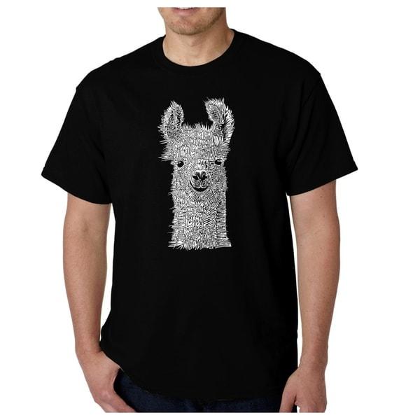 Mens Word Art T-shirt - Llama - LA Pop Art