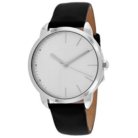 Just Cavalli Men's JC1G079L0015 'Forte' Black Leather Watch