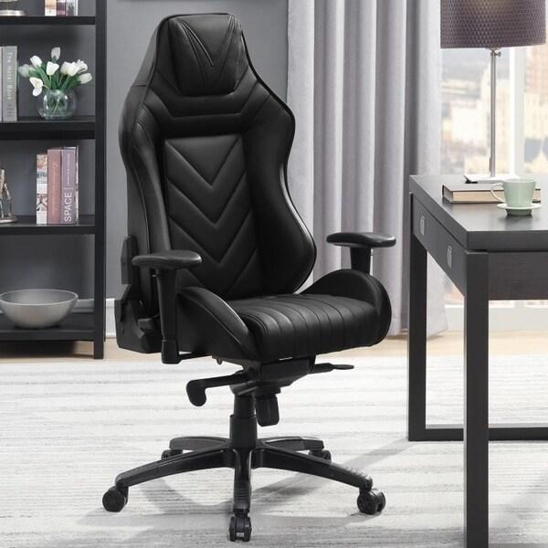 Reclining Racer Design Black Multifunction Ergonomic Gaming Executive Office Chair