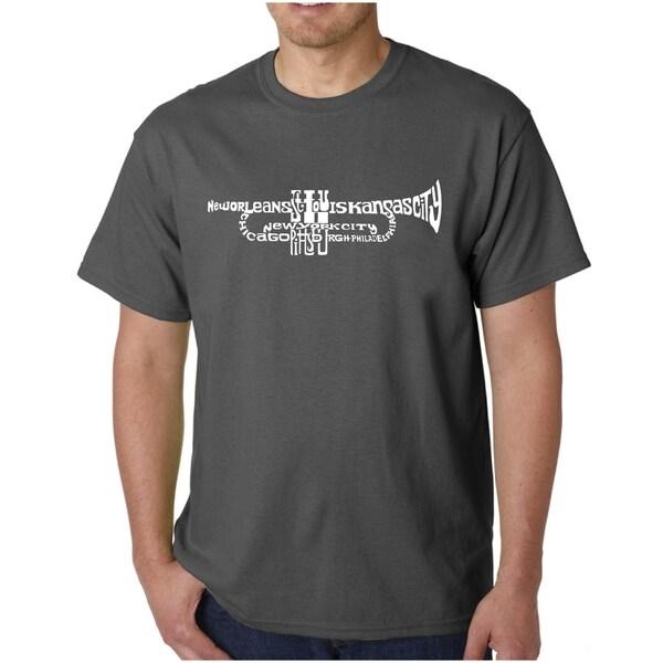 Mens Word Art T-shirt - Trumpet