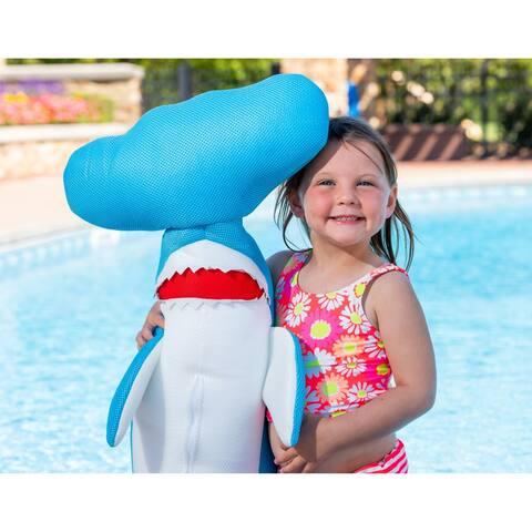 Hammerhead Shark Float for Swimming Pools - Blue