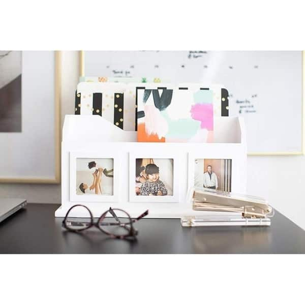 White Wooden Desktop Mail Organizer