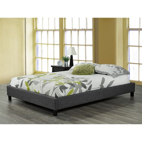 Double Platform Bed Frame Grey