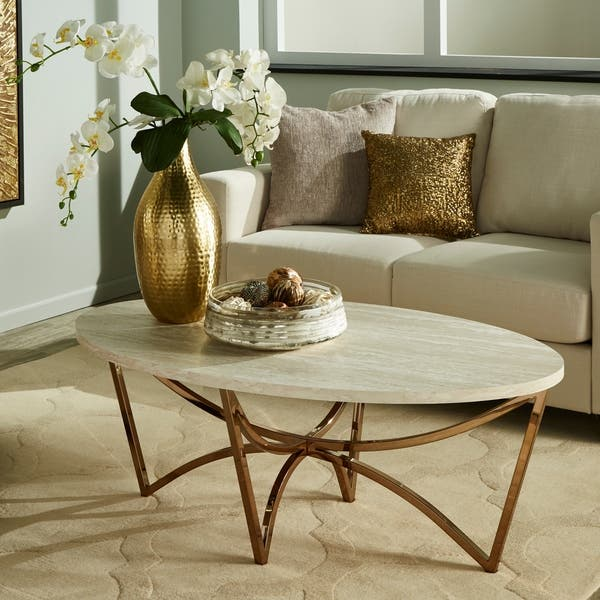 Vittoria Champagne Gold Finish Tail Table Or