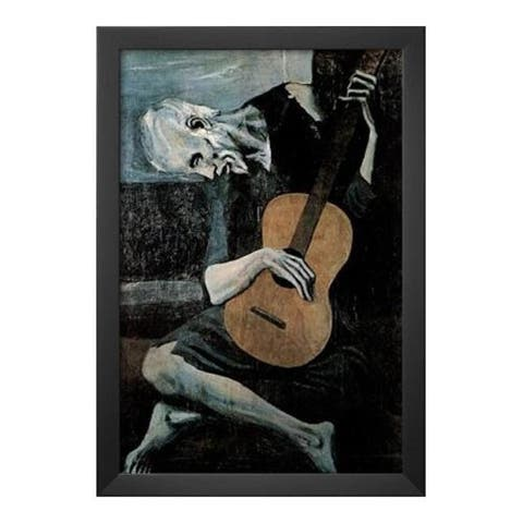 FRAMED Old Guitarist by Pablo Picasso 18x12 Art Painting Print - 18 x 12