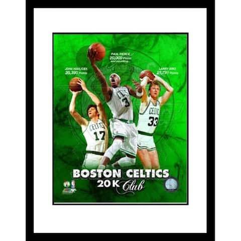 FRAMED Boston Celtcs Larry Bird Paul Pierce John Havlicek 16x13 Composite 20K 20000 Club - 16 x 13
