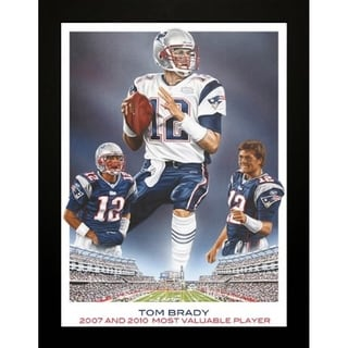 Link to FRAMED Exclusive Tom Brady by Darryl Vlasak 24x36 Print Original Oil Painting Print Patriots Football Art - 24 x 36 Similar Items in Art Prints